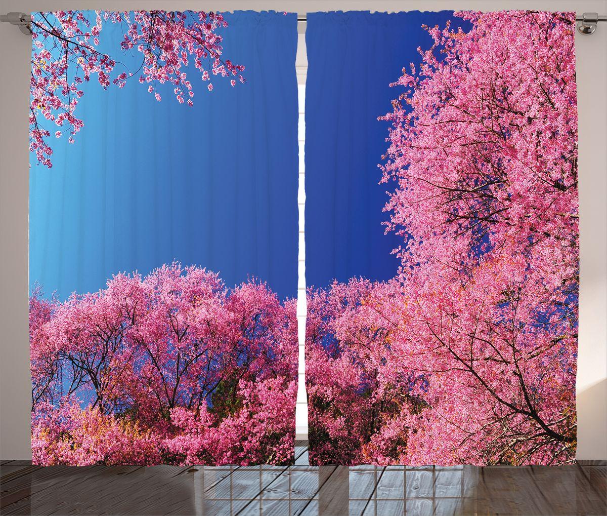 Комплект фотоштор Magic Lady Розовый сад, на ленте, высота 265 см. шсг_17424шсг_17424Роскошный комплект фотоштор Magic Lady Розовый сад, выполненный из высококачественного сатена (полиэстер 100%), великолепно украсит любое окно. При изготовлении используются специальные гипоаллергенные чернила. Комплект состоит из двух фотоштор и декорирован изящным рисунком. Оригинальный дизайн и цветовая гамма привлекут к себе внимание и органично впишутся в интерьер комнаты. Крепление на карниз при помощи шторной ленты на крючки.