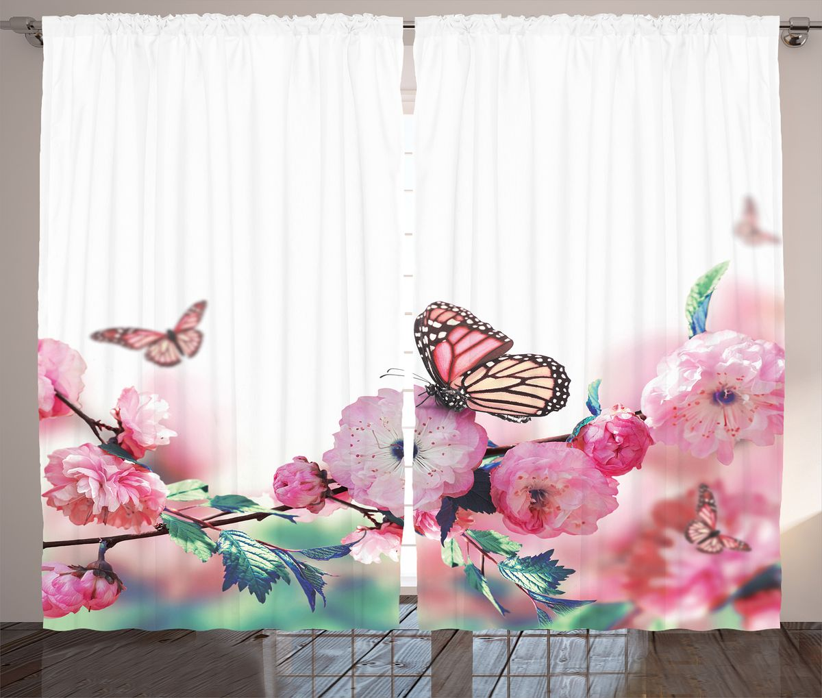Комплект фотоштор Magic Lady Бабочки на розовых цветах, на ленте, высота 265 см. шсг_2637шсг_2637Компания Сэмболь изготавливает шторы из высококачественного сатена (полиэстер 100%). При изготовлении используются специальные гипоаллергенные чернила для прямой печати по ткани, безопасные для человека и животных. Экологичность продукции Magic lady и безопасность для окружающей среды подтверждены сертификатом Oeko-Tex Standard 100. Крепление: крючки для крепления на шторной ленте (50 шт). Возможно крепление на трубу. Внимание! При нанесении сублимационной печати на ткань технологическим методом при температуре 240°С, возможно отклонение полученных размеров (указанных на этикетке и сайте) от стандартных на + - 3-5 см. Производитель старается максимально точно передать цвета изделия на фотографиях, однако искажения неизбежны и фактический цвет изделия может отличаться от воспринимаемого по фото. Обратите внимание! Шторы изготовлены из полиэстра сатенового переплетения, а не из сатина (хлопок). Размер одного полотна шторы: 145х265 см. В комплекте 2 полотна шторы и 50 крючков.