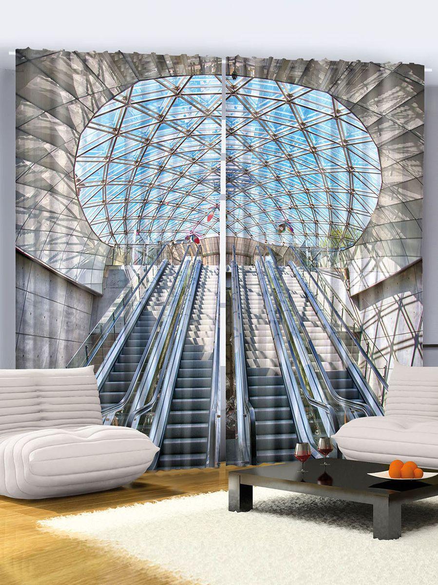 Комплект фотоштор Magic Lady Станция метро Канэри-Уорф, на ленте, высота 265 см. шсг_915