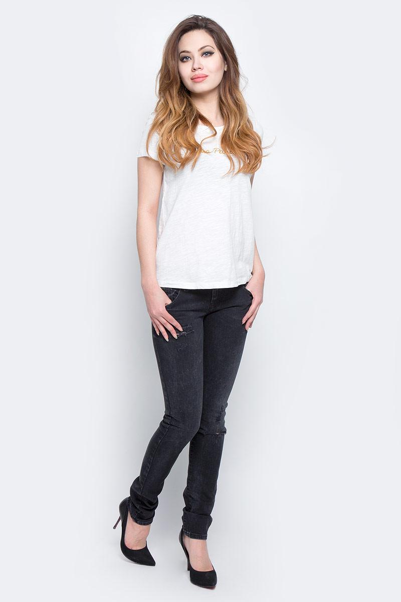 Футболка женская Lee Cooper, цвет: белый. ANAIS-5055. Размер L (50)ANAIS-5055