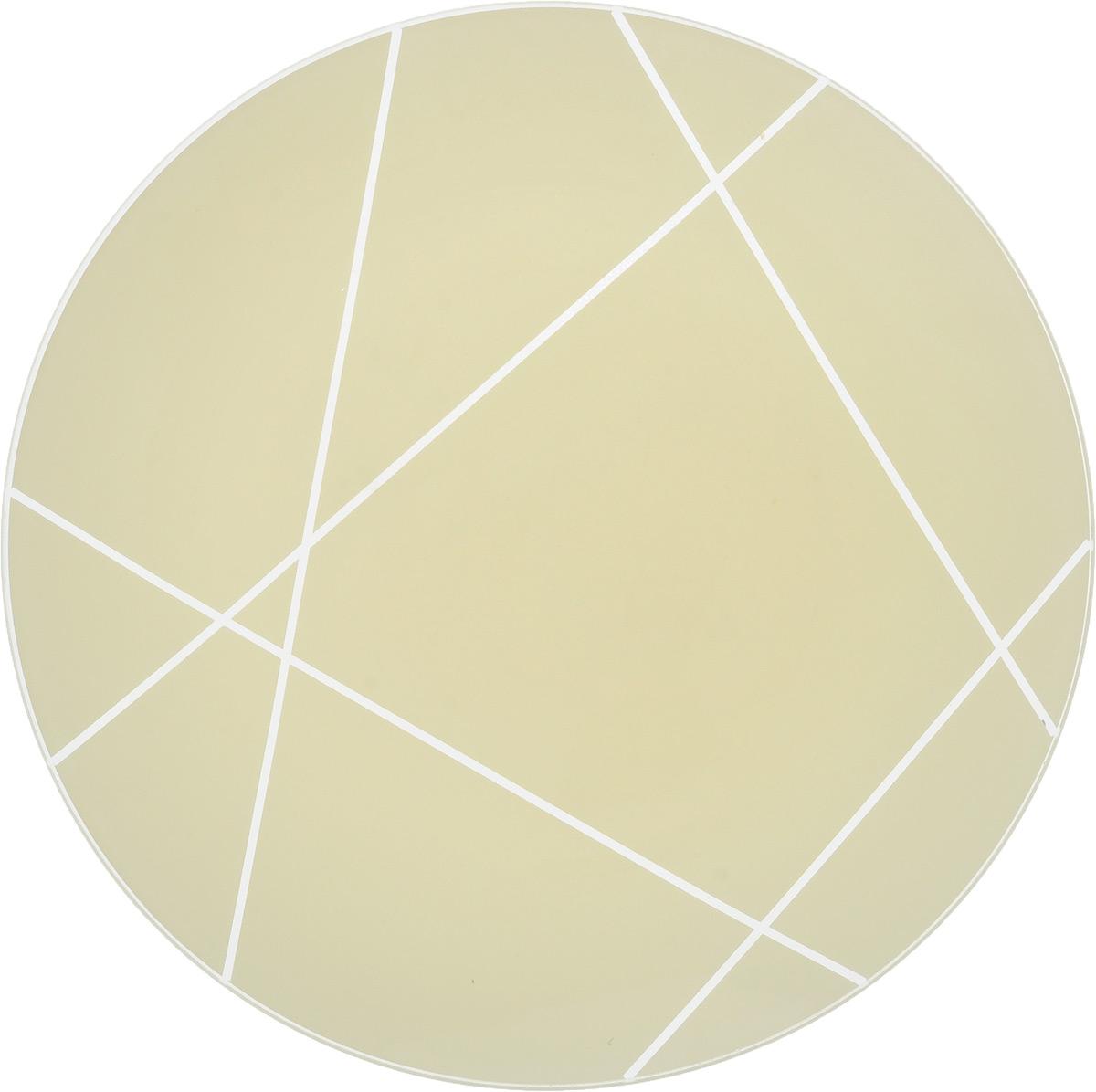 Тарелка NiNaGlass Контур, цвет: кремовый, диаметр 26 см85-260-002/белТарелка NiNaGlass Контур выполнена из высококачественного стекла и оформлена красивым прозрачным геометрическим принтом. Тарелка идеальна для подачи вторых блюд, а также сервировки закусок, нарезок, салатов, овощей и фруктов. Она отлично подойдет как для повседневных, так и для торжественных случаев.Такая тарелка прекрасно впишется в интерьер вашей кухни и станет достойным дополнением к кухонному инвентарю.