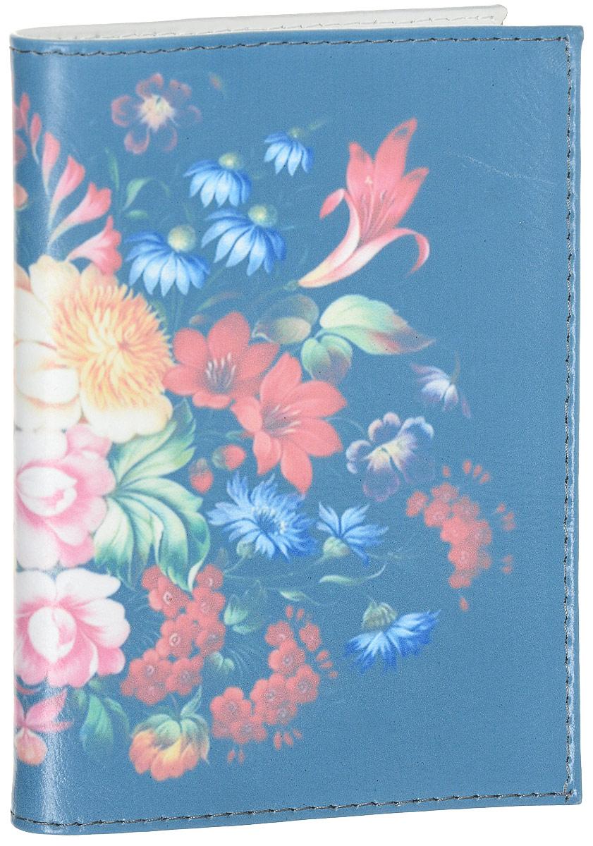 Обложка для паспорта Жостовский узор-1. OK304 - Обложки для паспорта