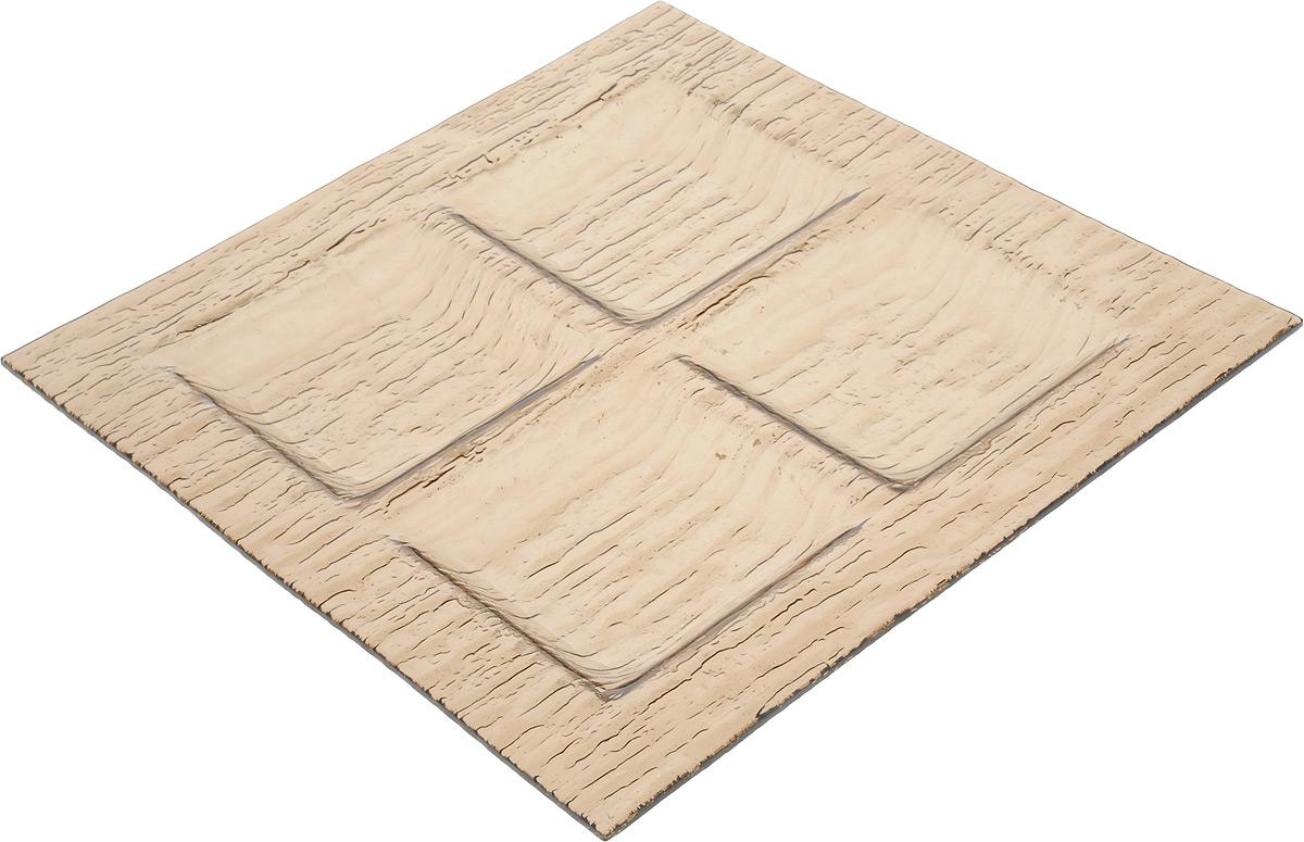 Менажница Vellarti, 4 секции, 26,3 х 26,3 см20-24Менажница Vellarti выполнена из высококачественного стекла и дополнена красивым рельефным узором. Менажница содержит 4 квадратные секции, поэтому подходит для сервировки сразу нескольких закусок и нарезок. Такая менажница отлично подойдет для торжественных случаев. Она дополнит сервировку праздничного стола и подчеркнет ваш прекрасный вкус. Размер секции: 9 х 9 см.