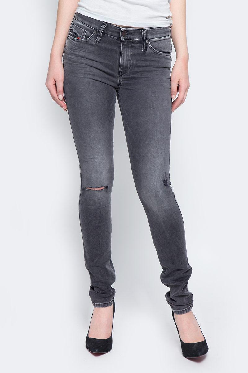 Джинсы женские Diesel, цвет: серый. 00S142-0679P/02. Размер 28-32 (46-32) джинсы женские diesel цвет синий 00s142 0679w 01 размер 26 32 42 32