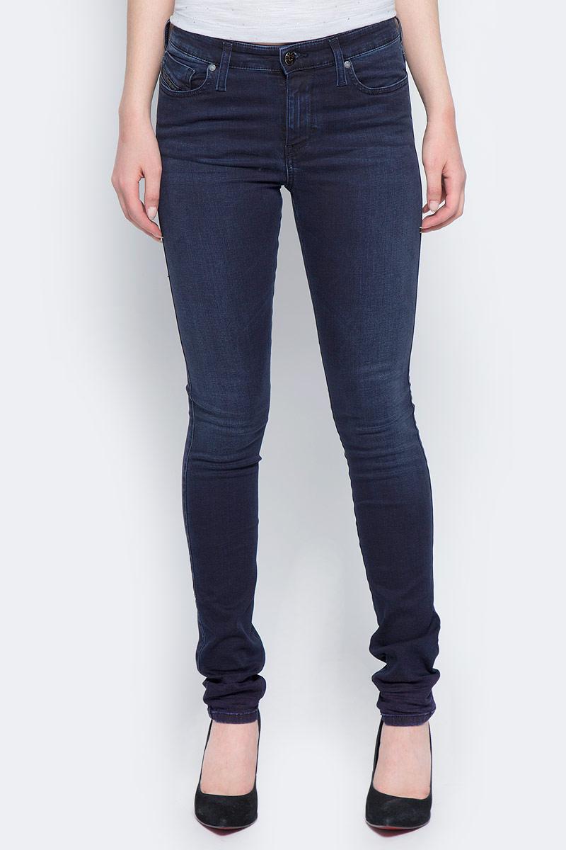 Джинсы женские Diesel, цвет: темно-синий. 00S142-0679M/01. Размер 27-32 (44-32) джинсы женские diesel цвет синий 00s142 0679w 01 размер 26 32 42 32