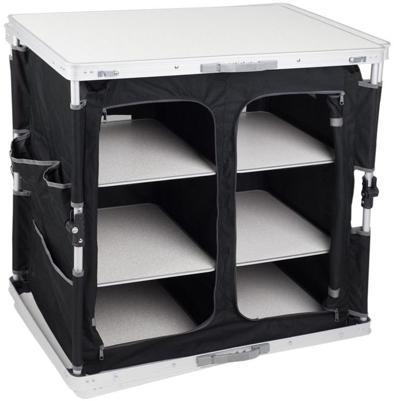 Cтол - шкаф складной TREK PLANET Master Cook Alu 84 XL, кемпинговый, 84х50х80 см