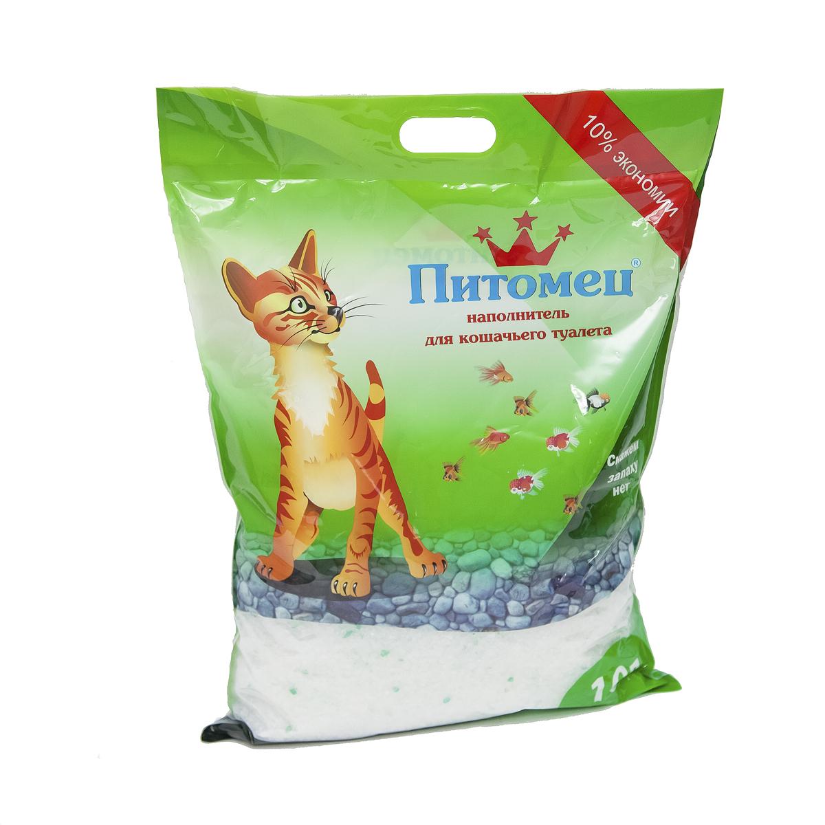 Наполнитель для кошачьего туалета  Питомец , силикагелевый, 10 л - Наполнители и туалетные принадлежности - Наполнители