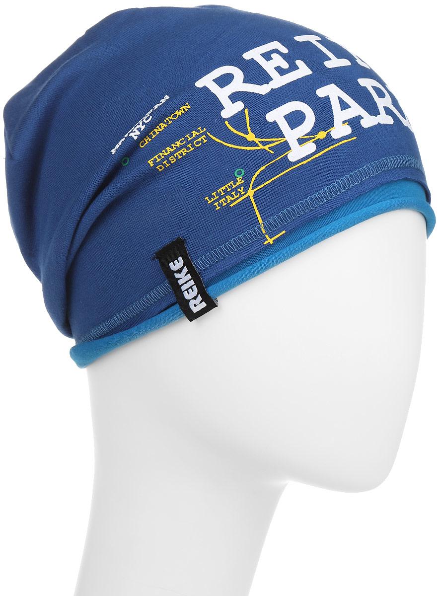 Шапка для мальчика Reike Метро, цвет: синий. RKNSS17-SUB1. Размер 50RKNSS17-SUB1_blueСтильная шапка для мальчика Reike Метро, изготовленная из качественного хлопкового материала, отлично впишется в гардероб ребенка. Модель с контрастным подкладом оформлена принтом в стиле серии. Уважаемые клиенты!Размер, доступный для заказа, является обхватом головы.