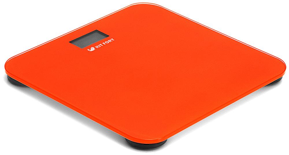 Kitfort КТ-804-5, Orange весы напольныеКТ-804-5Электронные напольные весы Kitfort КТ-804 обеспечивают высокую точность измерения и станут неизменным спутником для людей, следящих за своим весом. Весы оснащены жидкокристаллическим дисплеем с крупными цифрами, что делает их использование максимально удобным. Платформа выполнена из высокопрочного полированного стекла, а прорезиненные ножки обеспечивают весам дополнительную устойчивость и предотвращают их скольжение по полу, что гарантирует безопасность во время взвешивания.Включение и выключение весов Kitfort КТ-804 происходит автоматически. После взвешивания показания весов фиксируются. При каждом включении весы автоматически калибруются и тарируются для обеспечения большей точности показаний. Весы имеют яркий привлекательный дизайн, благодаря чему украсят собой любой интерьер.Минимальный вес: 2,5 кг