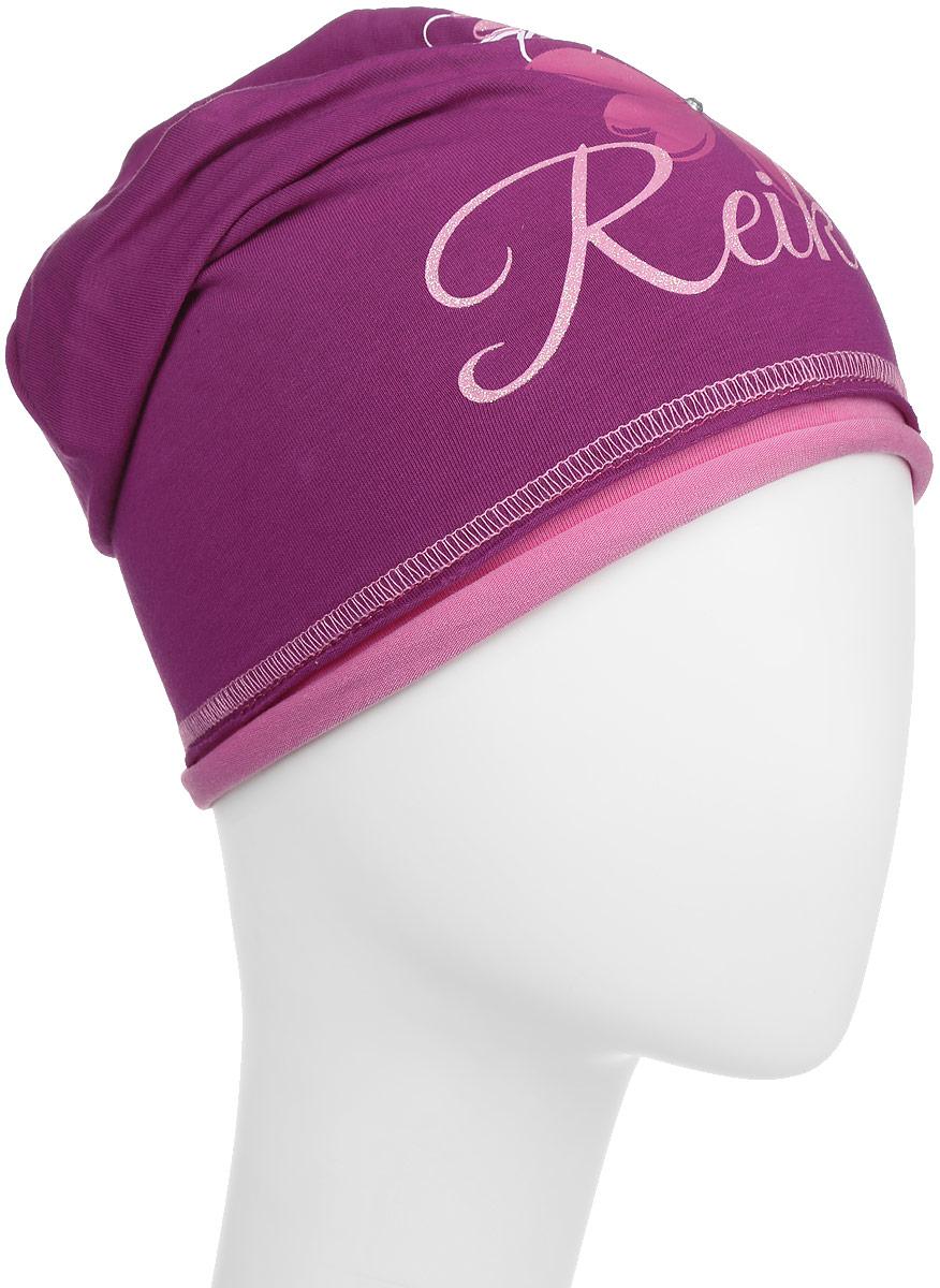 Шапка для девочки Reike Космея, цвет: бордовый. RKNSS17-CSM1. Размер 54RKNSS17-CSM1_ bordeauxСтильная шапка для девочки Reike Космея, изготовленная из качественного хлопкового материала, отлично впишется в гардероб юной модницы. Модель с контрастным подкладом оформлена цветочным принтом со стразами и блестками и глиттерной надписью Reike. Уважаемые клиенты!Размер, доступный для заказа, является обхватом головы.