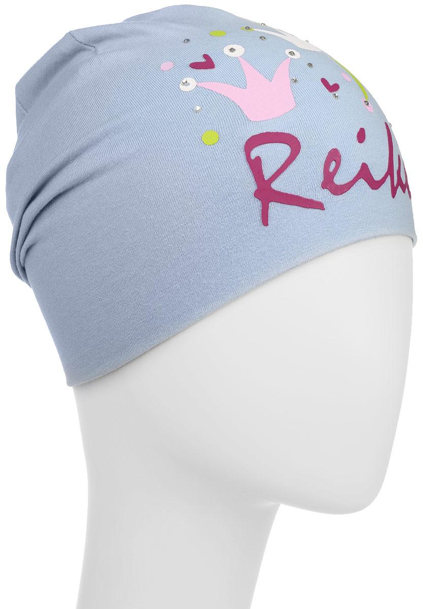 Шапка для девочки Reike Принцесса, цвет: сиреневый. RKNSS17-CRN1. Размер 50RKNSS17-CRN1 lilacСтильная шапка для девочки Reike Принцесса, изготовленная из натурального хлопка, отлично впишется в гардероб юной модницы. Двухслойная модель оформлена принтом со стразами в стиле серии и объемной надписью Reike.Уважаемые клиенты!Размер, доступный для заказа, является обхватом головы.