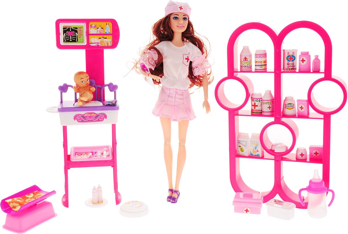 Veld-Co Игровой набор с куклой Детская поликлиника 47892 veld co игровой набор с куклой торговый центр