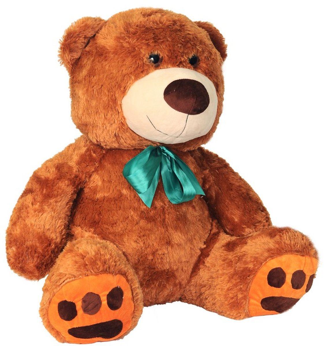 СмолТойс Мягкая игрушка Медведь цвет коричневый 70 см флиппер тойз мягкая игрушка черепаха тортила 70 см 632416