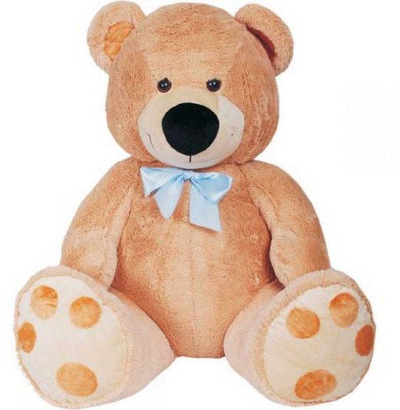 СмолТойс Мягкая игрушка Медведь цвет бежевый 120 см мягкая игрушка медведь с медвежонком