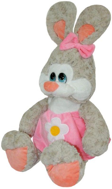 СмолТойс Мягкая игрушка Зайка Даша цвет розовый 65 см малышарики мягкая игрушка собака бассет хаунд 23 см