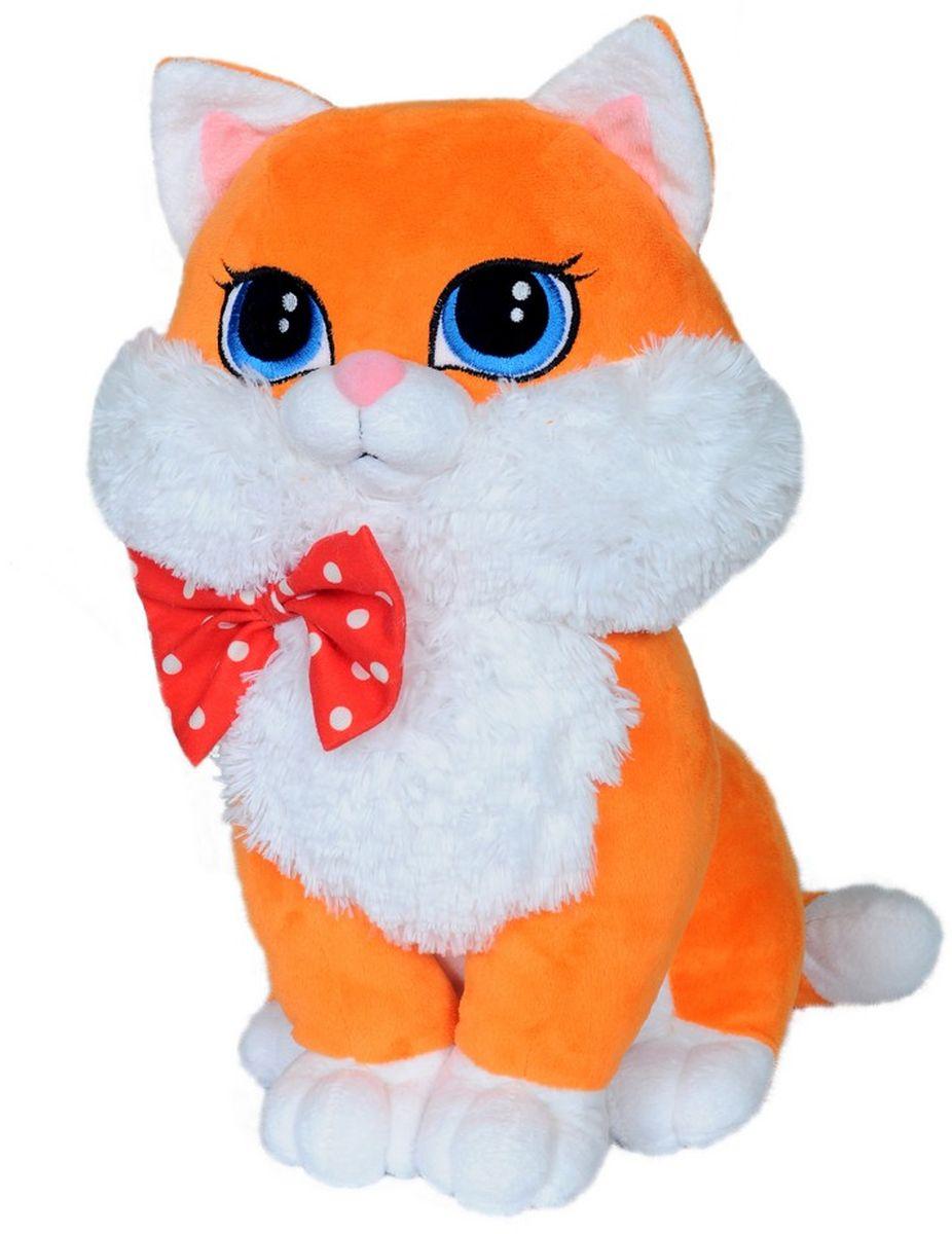 СмолТойс Мягкая игрушка Кошка Люси цвет оранжевый 42 см