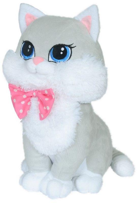 СмолТойс Мягкая игрушка Кошка Люси цвет серый 42 см
