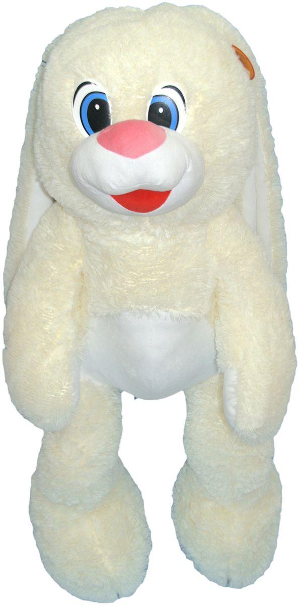 СмолТойс Мягкая игрушка Зайчонок цвет молочный 100 см мягкая игрушка смолтойс зайка радужный 51 см