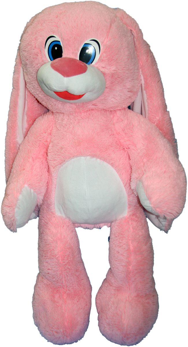 СмолТойс Мягкая игрушка Зайчонок цвет розовый 100 см мягкая игрушка смолтойс зайка радужный 51 см