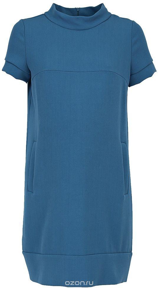 Платье для беременных Mammy Size, цвет: зеленый. 5301512174. Размер 425301512174Платье для беременных Mammy Size выполнено из комбинированного материала. Модель с воротником-стойкой и короткими рукавами застегивается на молнию.