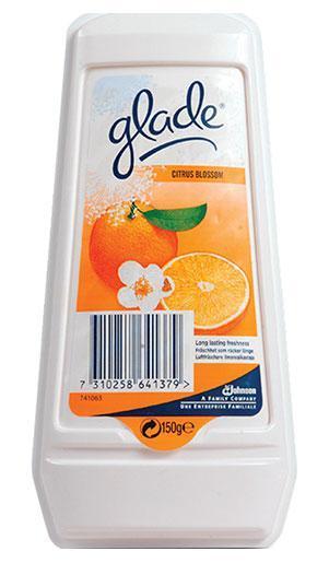 GLADE Освежитель воздуха гелевый Цитрус 150 г635588Эффективный освежитель длительного действия.Постоянно поддерживает аромат в течение 30 дней.Защитная пленка контролирует интенсивность запаха.