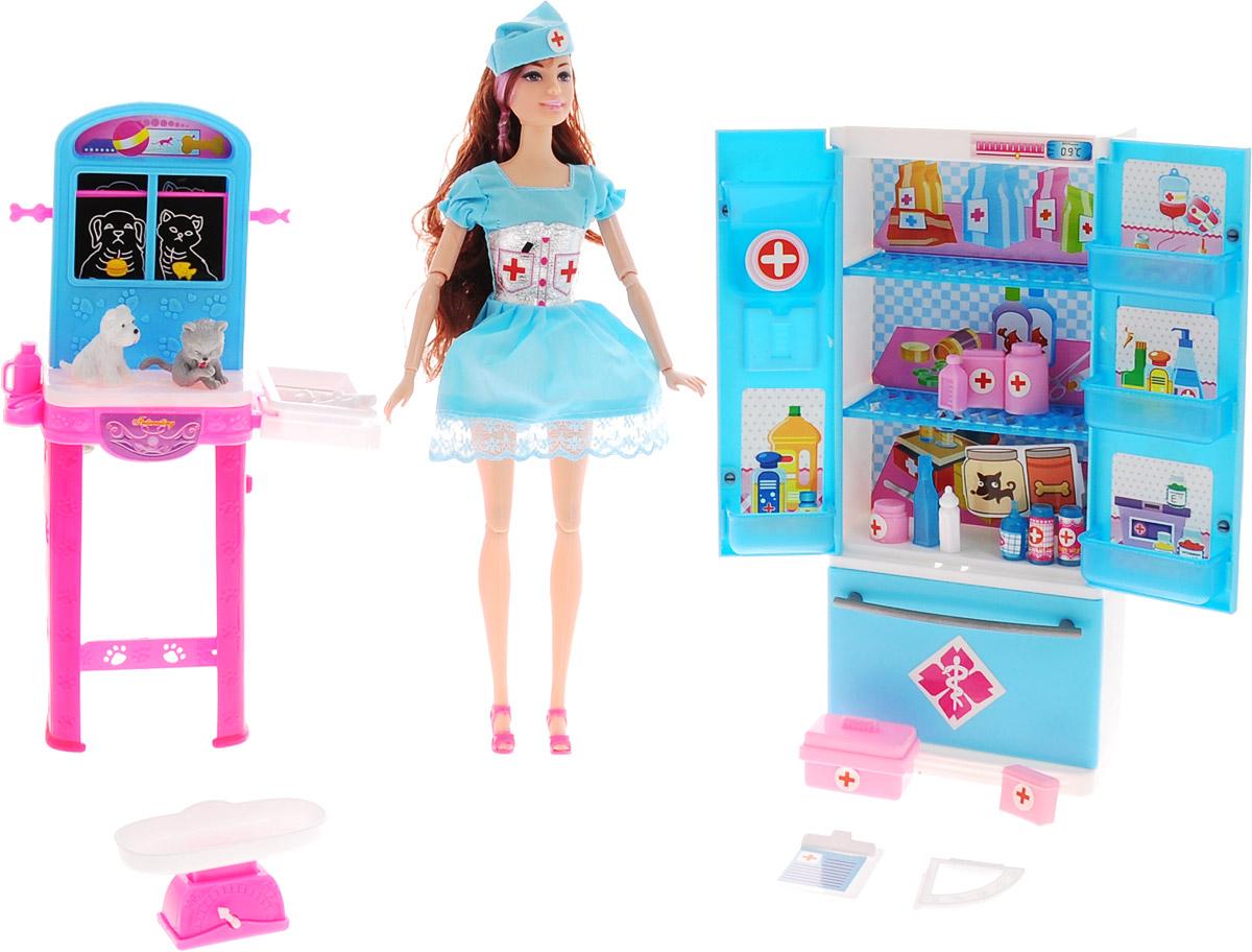 Veld-Co Игровой набор с куклой Ветеринарная клиника veld co игровой набор с куклой детская поликлиника 47892