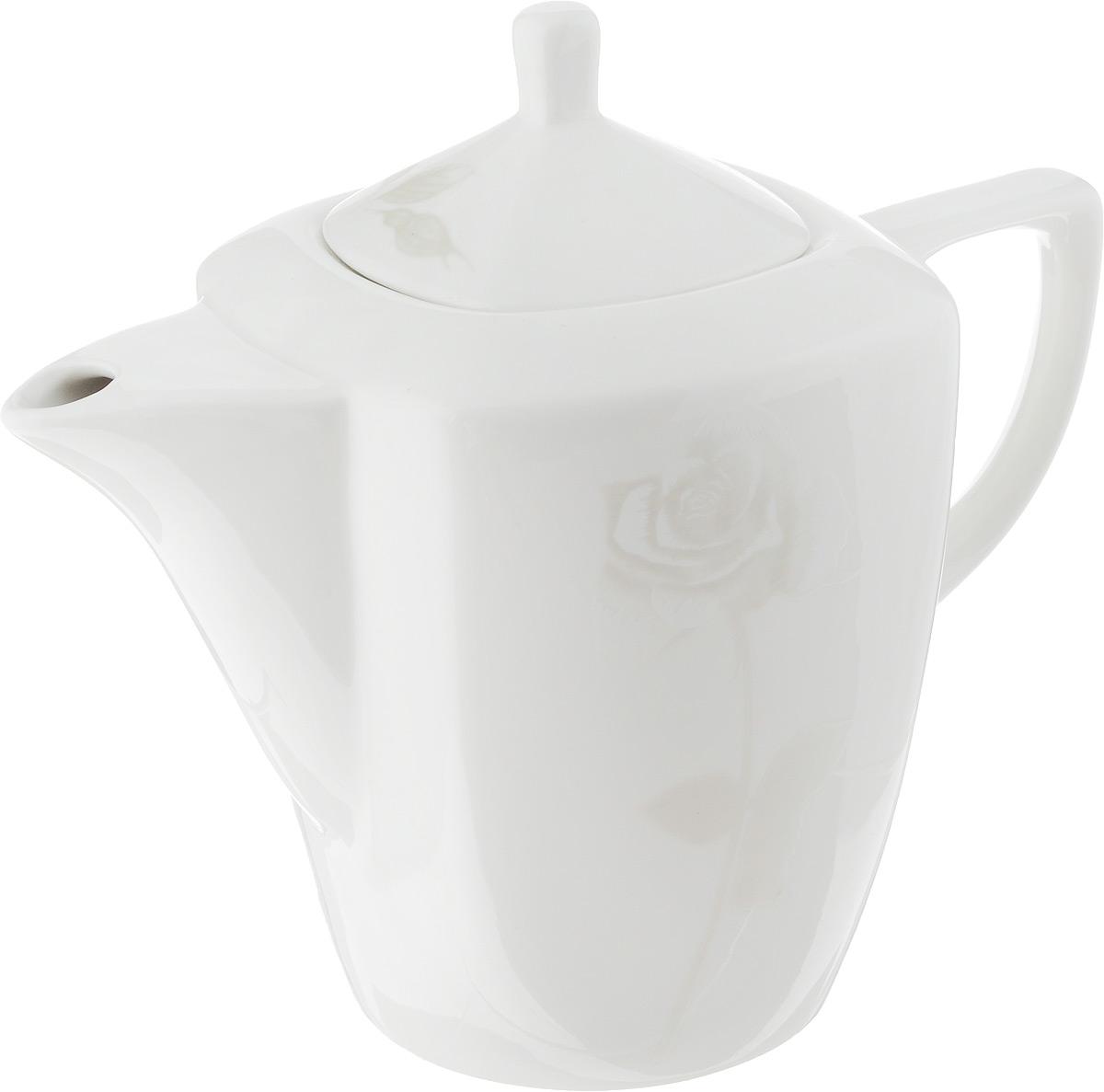 Чайник заварочный Жемчужная роза, 1,1 л216699Заварочный чайник Жемчужная роза изготовлен из высококачественного фарфора. Глазурованное покрытие обеспечивает легкую очистку. Изделие прекрасно подходит для заваривания вкусного и ароматного чая, а также травяных настоев. Оригинальный дизайн сделает чайник настоящим украшением стола. Он удобен в использовании и понравится каждому.Можно мыть в посудомоечной машине и использовать в микроволновой печи. Диаметр чайника (по верхнему краю): 7 см. Высота чайника (без учета крышки): 14 см. Высота чайника (с учетом крышки): 19 см.