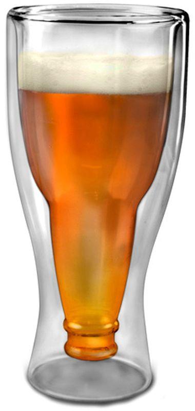 Бокал Эврика Бутылка91871Удивительный бокал, совмещающий в себе два самых узнаваемых пивных силуэта: бокала и бутылки. Тонкое изящное стекло снаружи переходит во внутренние стенки, которые повторяют форму горлышка пивной бутылки. Стильный подарок любителям хмельного напитка.