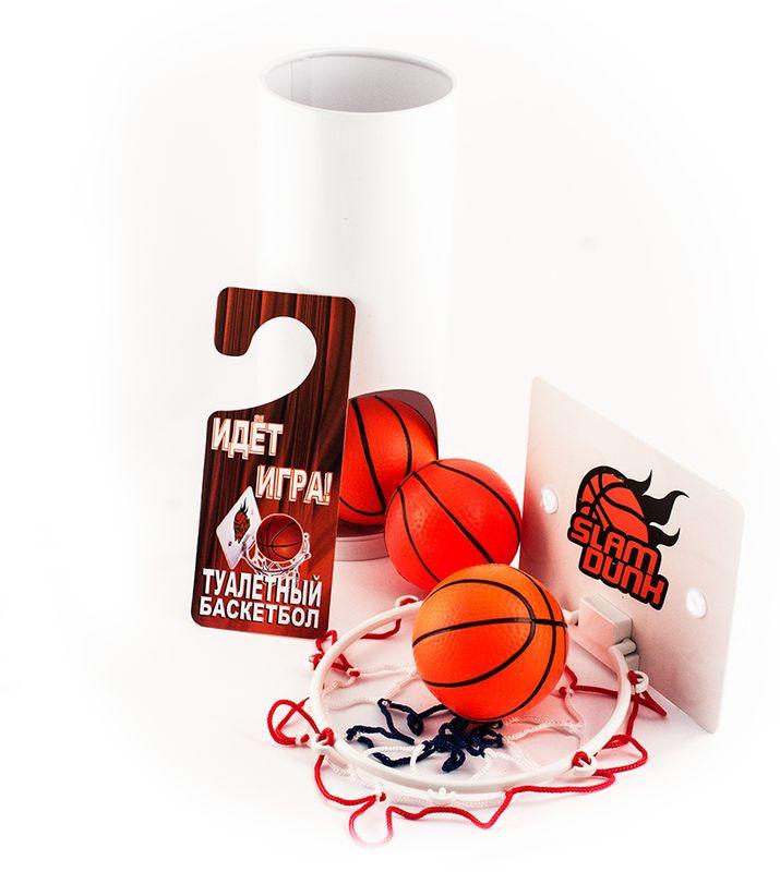 Мини-игра Эврика Туалетный Баскетбол95222Напольная игра мини-баскетбол представляет собой набор, при помощи которого можно скрасить время, проведенное в уборной. В набор входят: специальный текстильный коврик, тубус для хранения мячей, три баскетбольных шарика-мячика, щиток с корзиной и дверная табличка с просьбой не беспокоить.Расстелив коврик возле унитаза, расположите напротив себя корзину для мячей, плотно закрепив её при помощи присосок. Достаньте из ёмкости для мячей шары и попытайтесь забросить их все по очереди в корзину. Не забудьте предварительно снабдить входную дверь сообщением о ваших планах на игру, чтобы вам не помешали одержать победу!