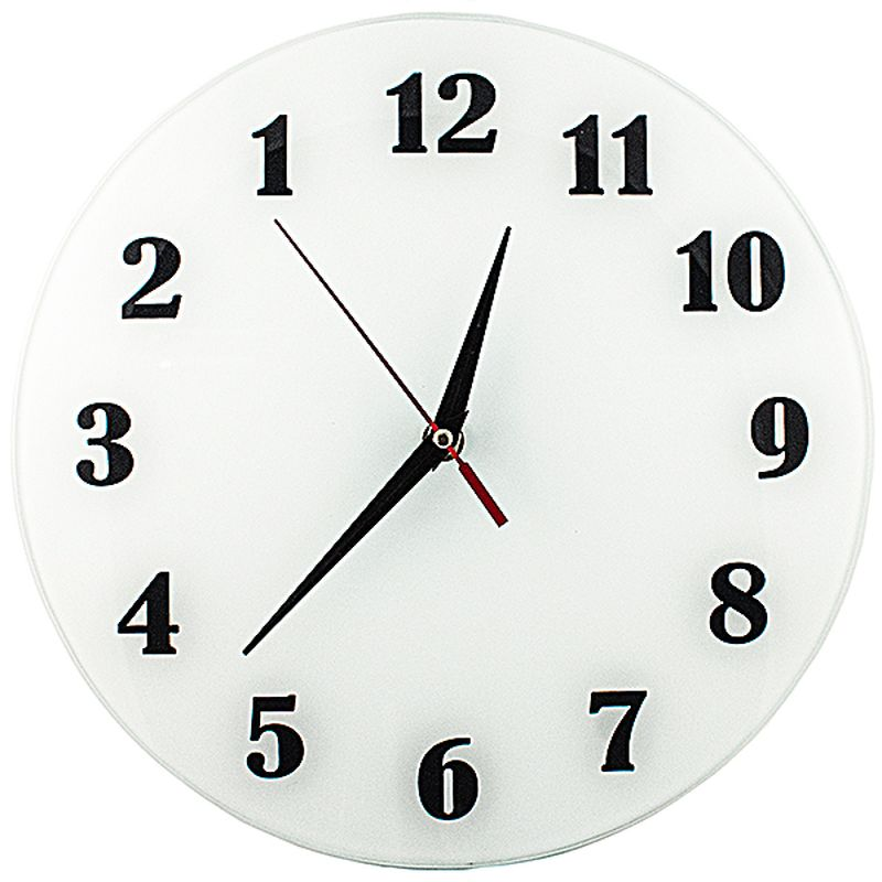 Часы настенные Эврика АнтиЧасы. Классика белая, стеклянные, цвет: белый, диаметр 28 см96617Оригинальные настенные часы Эврика АнтиЧасы. Классика белая круглой формы выполнены из стекла. Часы имеют три стрелки - часовую, минутную и секундную и циферблат с цифрами. Античасы с обратным ходом, механизм тихий, но тикающий. Необычное дизайнерское решение и качество исполнения придутся по вкусу каждому. Часы работают от 1 батарейки типа АА напряжением 1,5 В.Диаметр циферблата: 28 см.Глубина часов с механизмом: 4 см.