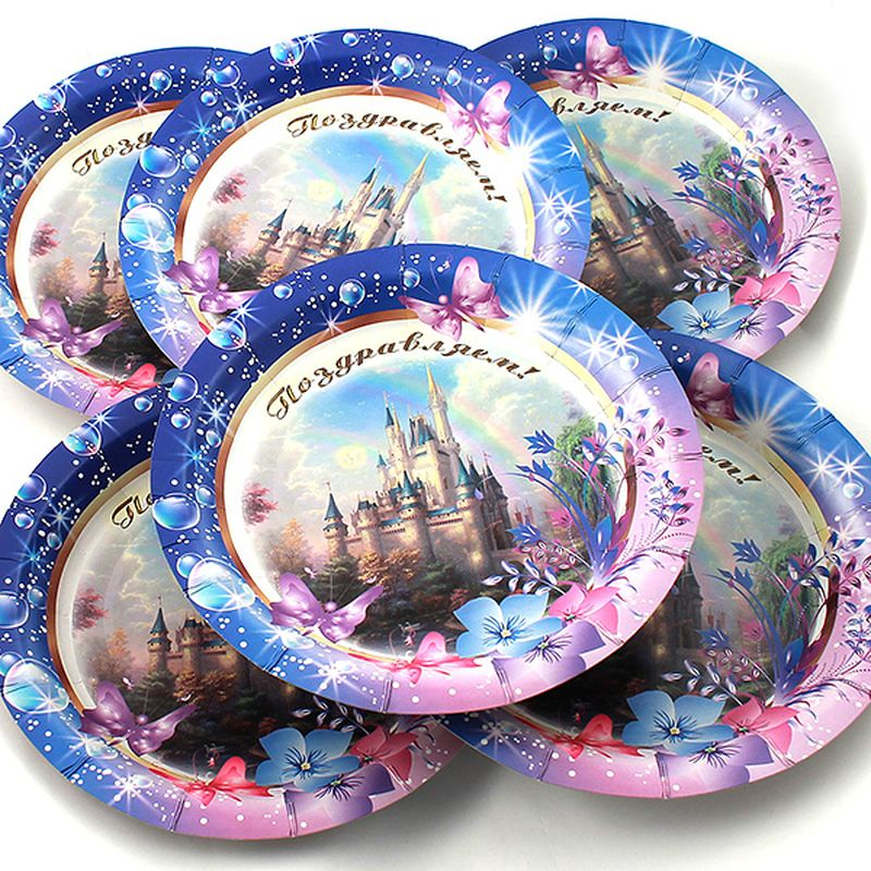 Набор тарелок Эврика Поздравляем, 6 шт96975Набор одноразовых тарелок Эврика Поздравляем состоит из 6 круглых тарелок, выполненных из картона и предназначенных для одноразового использования. Изделия декорированы забавными рисунками. Одноразовые тарелки будут незаменимы при поездках на природу, пикниках и других мероприятиях. Они не займут много места, легки исамое главное - после использования их не надо мыть. Диаметр тарелки: 19 см.Глубина тарелки: 2,5 см.