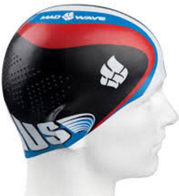 Шапочка для плавания MadWave Racing, цвет: черный поло madwave madwave ma991ewuyz79
