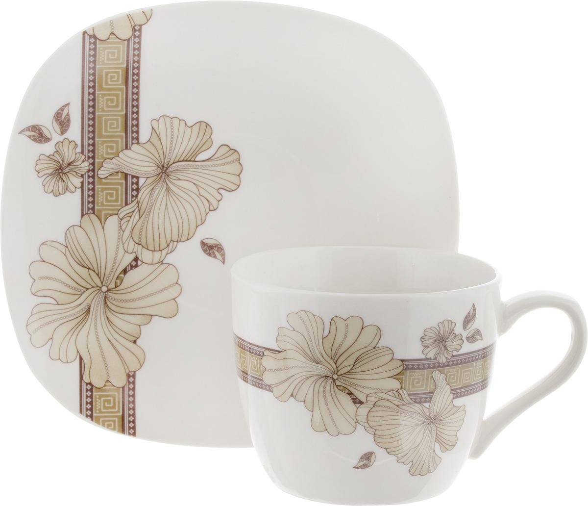 Чайная пара София, цвет: молочный, 2 предмета цена