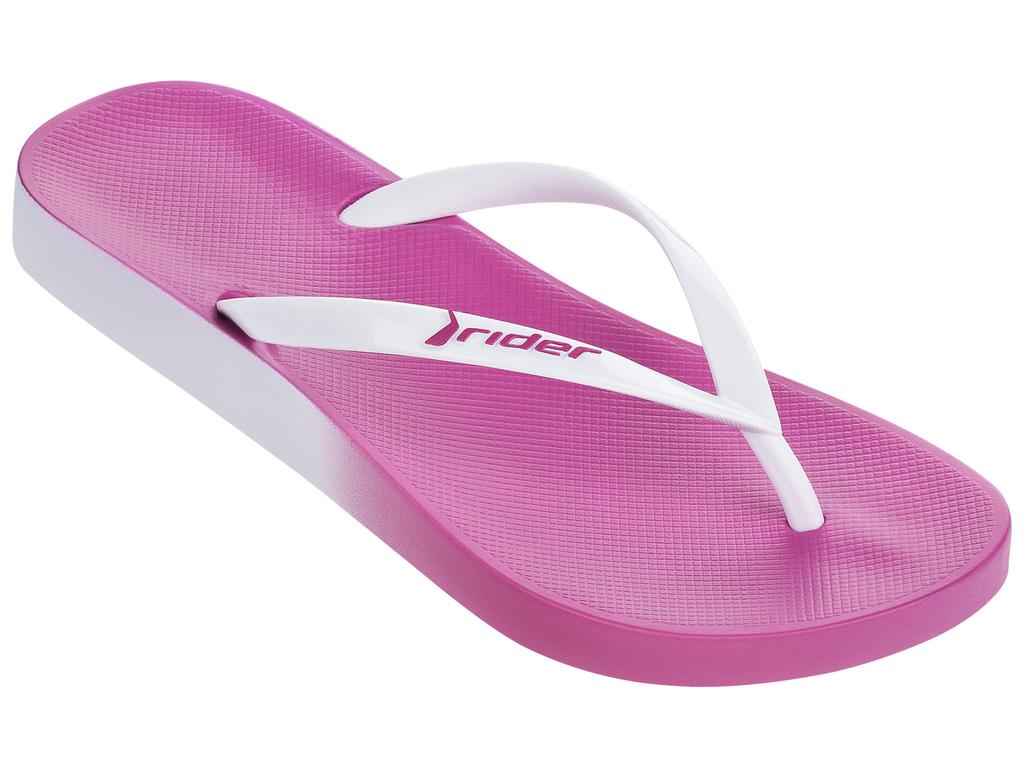Купить Сланцы женские Rider Rio Fem, цвет: розовый, белый. 81655-21977. Размер BRA 37 (38)