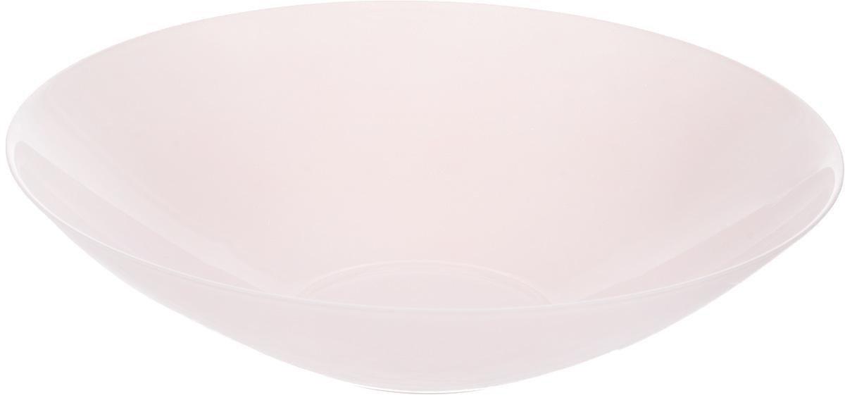 Салатник NiNaGlass Голландия, цвет: розовый, матовый, диаметр 30 см83-012-Ф30 РОЗСалатник NiNaGlass Голландия выполнен из высококачественного стекла. Салатник идеален для сервировки салатов, овощей, ягод, фруктов, гарниров и многого другого. Он отлично подойдет как для повседневных, так и для торжественных случаев.Такой салатник прекрасно впишется в интерьер вашей кухни и станет достойным дополнением к кухонному инвентарю. Диаметр салатника (по верхнему краю): 30 см. Высота стенки: 7,5 см.