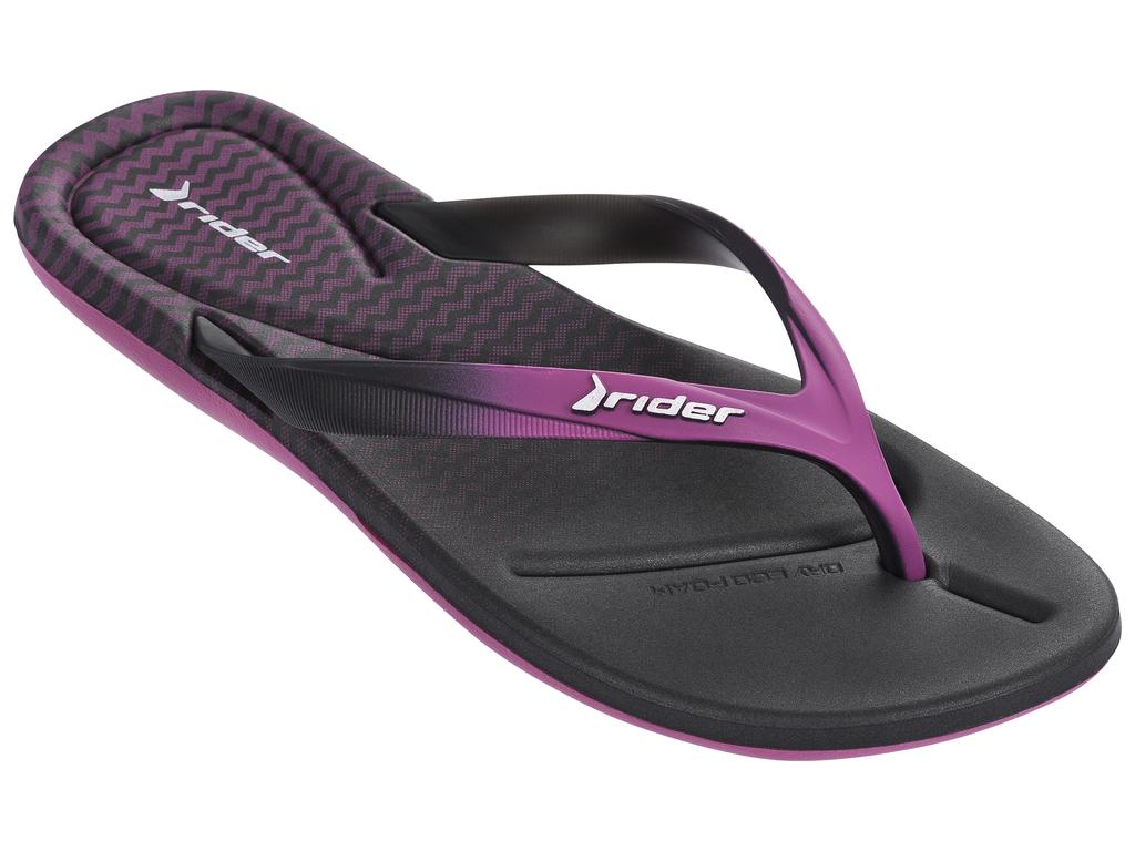 Купить Сланцы женские Rider Smoothie III Fem, цвет: черный, фиолетовый. 81916-20505. Размер BRA 35 (36)