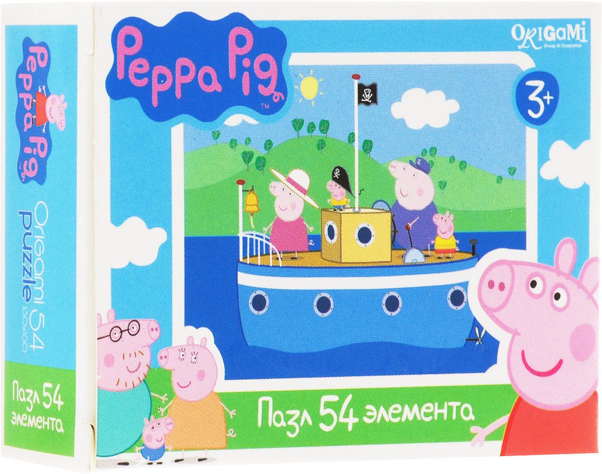 Оригами Мини-пазл Peppa Pig На корабле Оригами