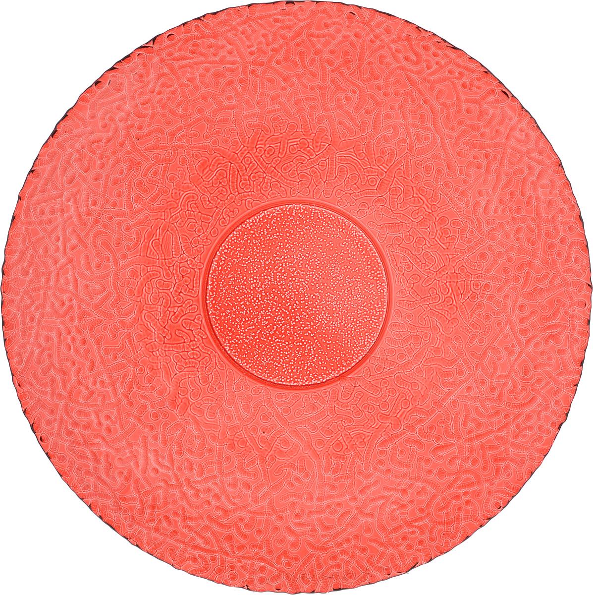 Тарелка NiNaGlass Ажур, цвет: рубиновый, диаметр 26 см83-071-Ф260 РУБТарелка NiNaGlass Ажур выполнена из высококачественного стекла и имеет рельефную внешнюю поверхность. Она прекрасно впишется в интерьер вашей кухни и станет достойным дополнением к кухонному инвентарю. Тарелка NiNaGlass Ажур подчеркнет прекрасный вкус хозяйки и станет отличным подарком.Диаметр тарелки: 26 см.Высота: 3 см.
