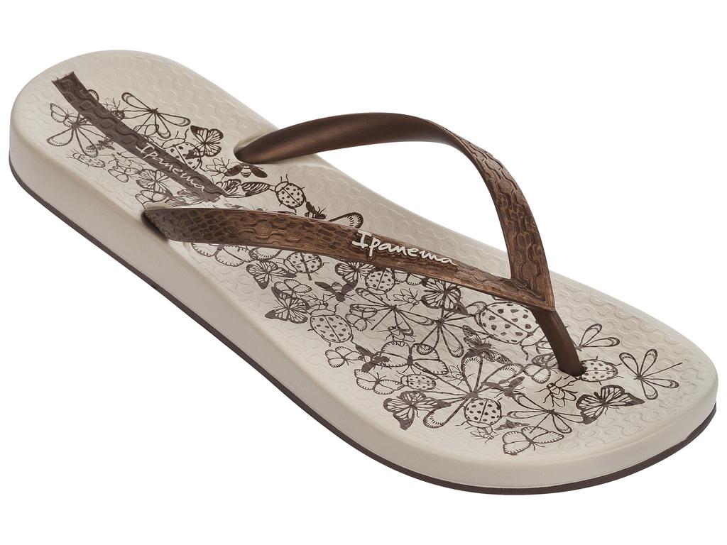 Купить Сланцы женские Ipanema, цвет: бежевый, коричневый. 81926-21539. Размер BRA 36 (37)