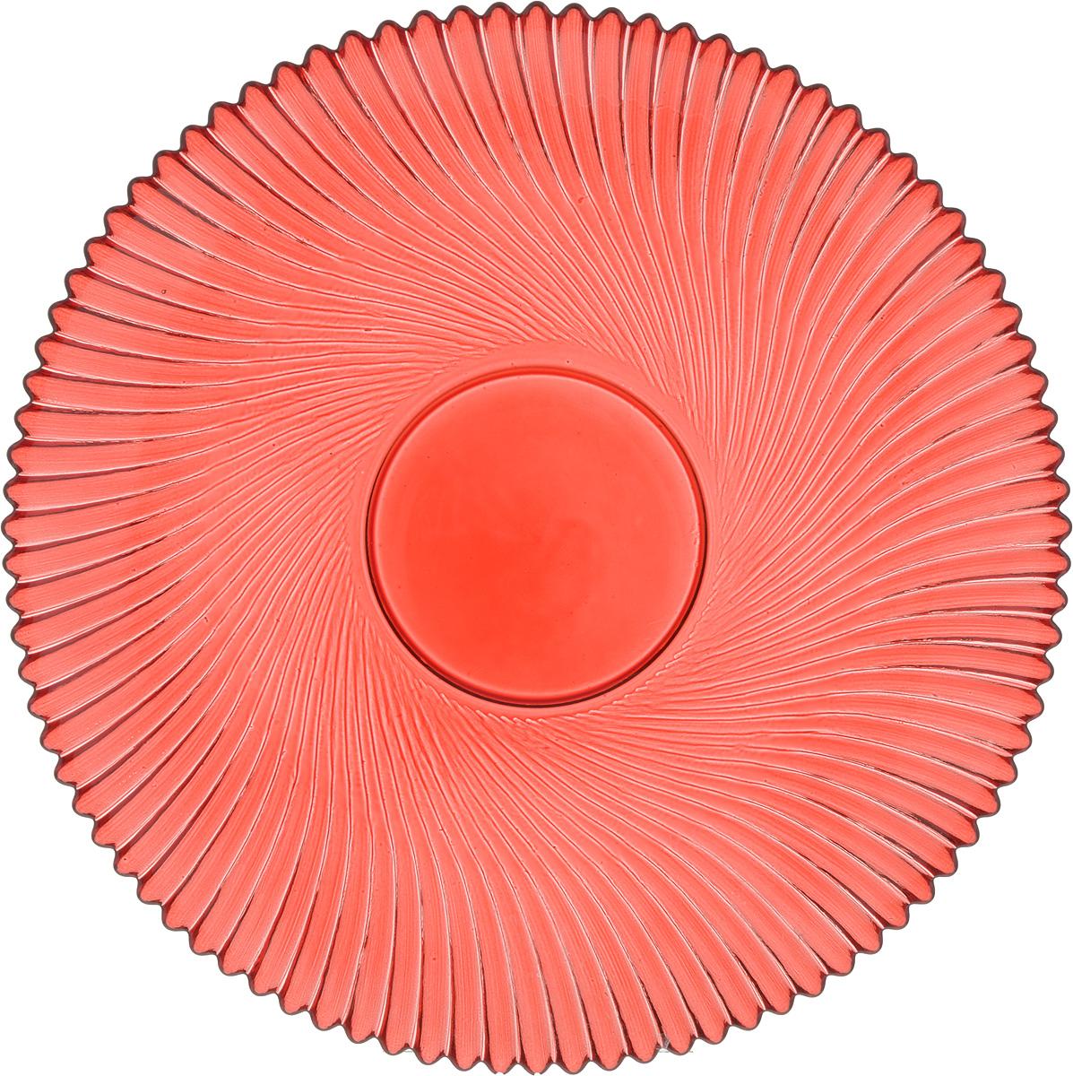 Тарелка NiNaGlass Альтера, цвет: рубиновый, диаметр 21 см83-066-ф210 РУБТарелка NiNaGlass Альтера выполнена из высококачественного стекла и оформлена красивым рельефным узором. Тарелка идеальна для подачи вторых блюд, а также сервировки закусок, нарезок, десертов и многого другого. Она отлично подойдет как для повседневных, так и для торжественных случаев.Такая тарелка прекрасно впишется в интерьер вашей кухни и станет достойным дополнением к кухонному инвентарю.