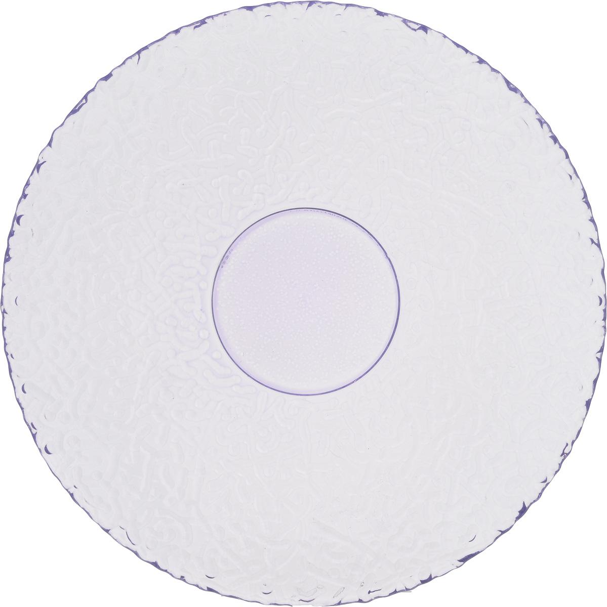 Тарелка NiNaGlass Ажур, цвет: светло-сиреневый, диаметр 21 см83-070-ф210 ЛАВАНТарелка NiNaGlass Ажур выполнена из высококачественного стекла и имеет рельефнуюповерхность. Она прекрасно впишется в интерьер вашей кухни и станет достойным дополнениемк кухонному инвентарю. Тарелка NiNaGlass Ажур подчеркнет прекрасный вкус хозяйки и станет отличным подарком.Диаметр тарелки: 21 см.Высота: 2,5 см.