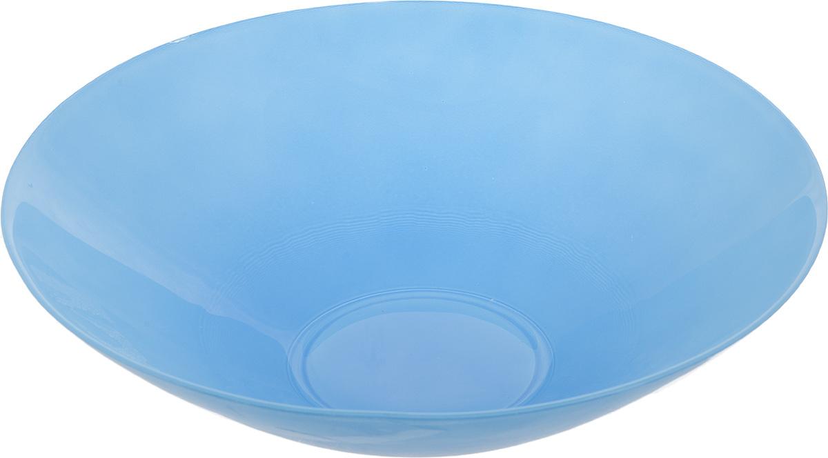 Салатник NiNaGlass Голландия, цвет: голубой, диаметр 25 см83-012-Ф25 ГОЛСалатник NiNaGlass Голландия выполнен из высококачественного матового стекла. Салатник идеален для сервировки салатов, овощей, ягод, фруктов, гарниров и многого другого. Он отлично подойдет как для повседневных, так и для торжественных случаев.Такой салатник прекрасно впишется в интерьер вашей кухни и станет достойным дополнением к кухонному инвентарю. Диаметр салатника (по верхнему краю): 25 см. Высота стенки: 7,5 см.