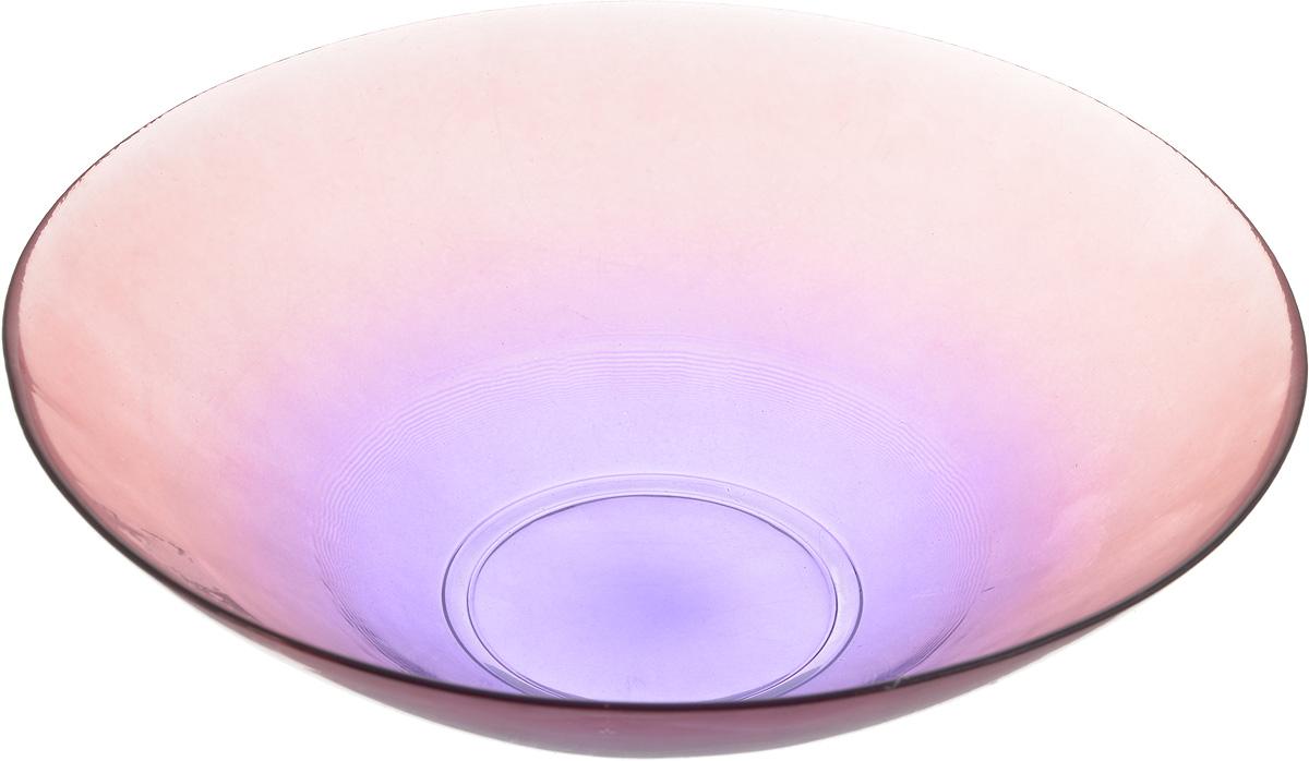 Салатник NiNaGlass Голландия, цвет: розово-фиолетовый, диаметр 25 см83-012-ф25 ПРОЗ. Р-ФСалатник NiNaGlass Голландия выполнен из высококачественного стекла и идеален для сервировки салатов, овощей, ягод, фруктов, гарниров и многого другого. Он отлично подойдет как для повседневных, так и для торжественных случаев.Такой салатник прекрасно впишется в интерьер вашей кухни и станет достойным дополнением к кухонному инвентарю. Диаметр салатника (по верхнему краю): 25 см. Высота стенки: 7,5 см.