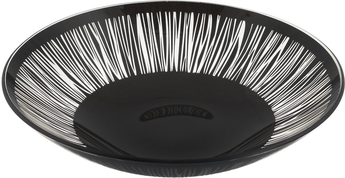 Тарелка глубокая NiNaGlass Витас, цвет: черный, диаметр 22 см85-225-016/чернТарелка NiNaGlass Витас выполнена из высококачественного стекла и оформлена цветочным узором. Она прекрасно впишется в интерьер вашей кухни и станет достойным дополнениемк кухонному инвентарю. Тарелка NiNaGlass Витас подчеркнет прекрасный вкус хозяйки и станет отличным подарком.Диаметр тарелки: 22 см.Высота: 5 см.