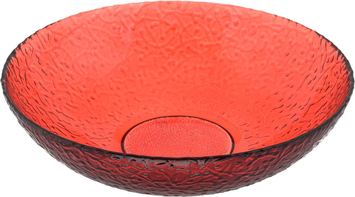 Тарелка NiNaGlass Ажур, цвет: рубиновый, диаметр 20 см83-072-ф200/H50 РУБТарелка NiNaGlass Ажур выполнена из высококачественного стекла и имеет рельефную внешнюю поверхность. Она прекрасно впишется в интерьер вашей кухни и станет достойным дополнением к кухонному инвентарю. Тарелка NiNaGlass Ажур подчеркнет прекрасный вкус хозяйки и станет отличным подарком.Диаметр тарелки: 20 см.Высота: 5 см.