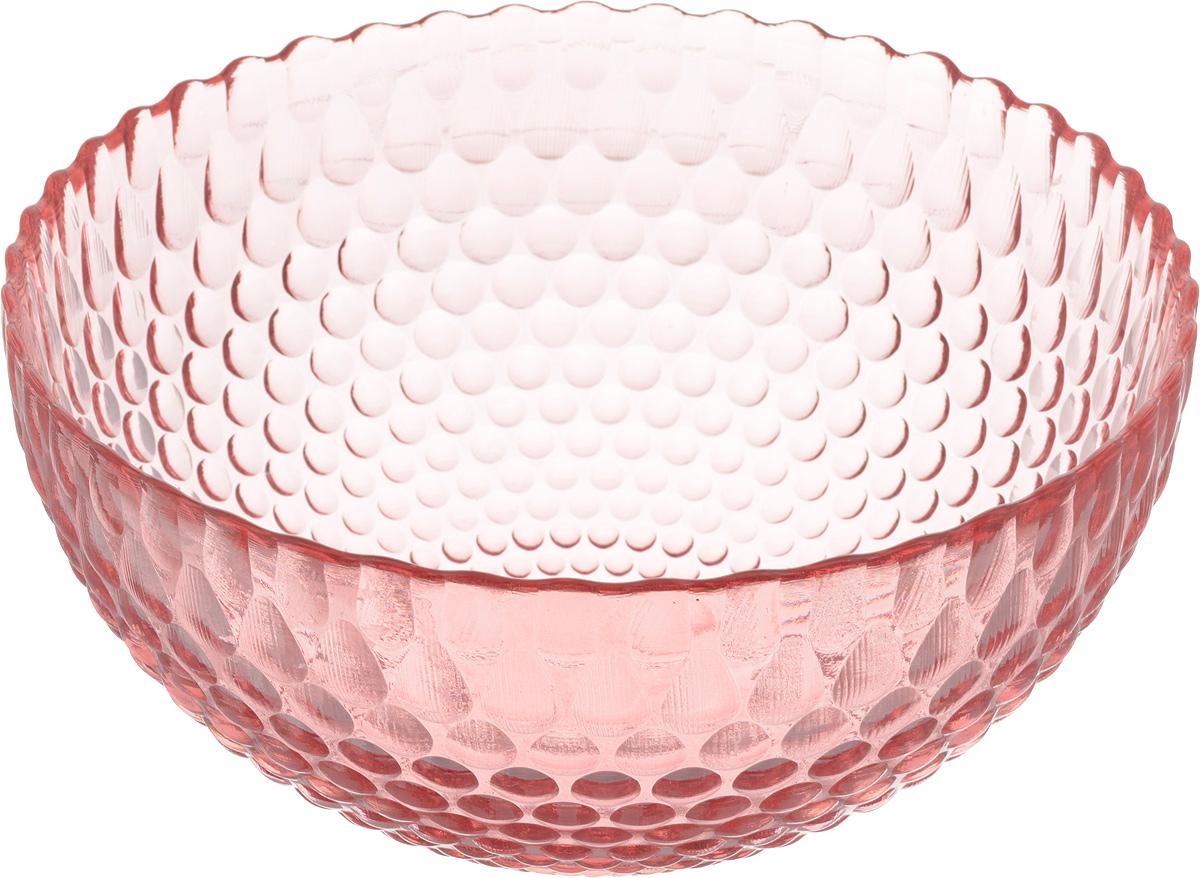 Салатник NiNaGlass Роса, цвет: розовый, диаметр 21 см83-060-Ф210 РОЗСалатник NiNaGlass Роса выполнен из высококачественного стекла и декорирован рельефным узором. Он подойдет для сервировки стола, как для повседневных, так и для торжественных случаев.Такой салатник прекрасно впишется в интерьер вашей кухни и станет достойным дополнением к кухонному инвентарю. Подчеркнет прекрасный вкус хозяйки и станет отличным подарком. Диаметр салатника (по верхнему краю): 21 см. Высота: 10 см.