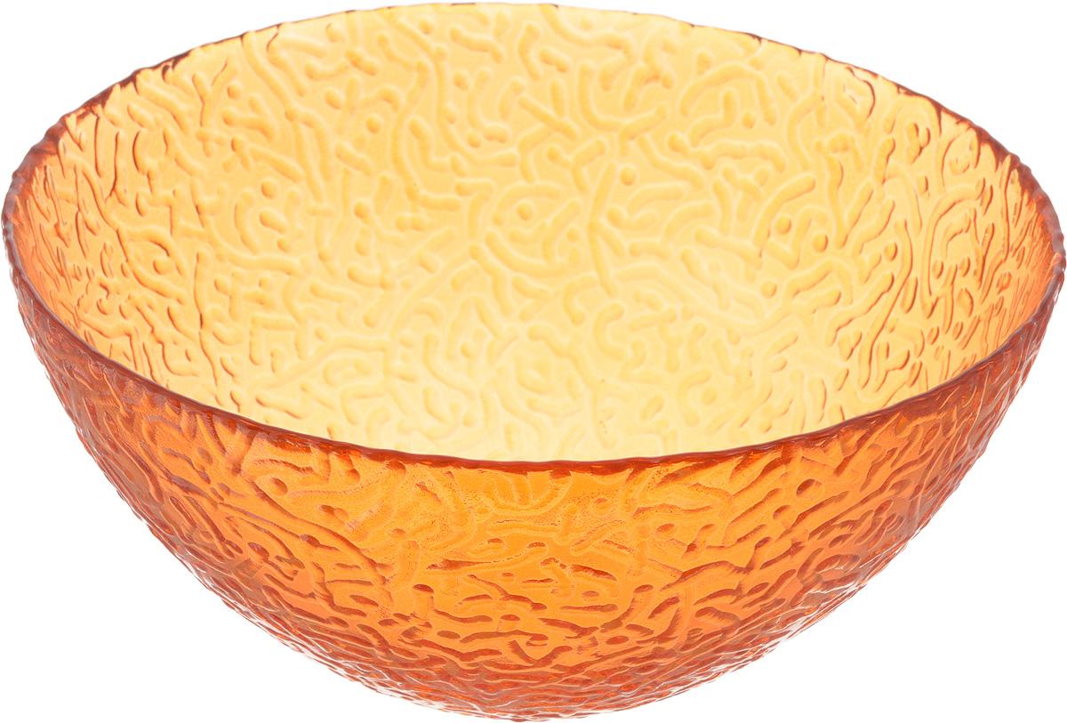 Салатник NiNaGlass Ажур, цвет: оранжевый, диаметр 20 см83-042-ф200 ОРЖСалатник NiNaGlass Ажур выполнен из высококачественного стекла и декорирован рельефным узором. Идеален длясервировки салатов, овощей и фруктов, ягод, вторых блюд,гарниров и многого другого. Он отлично подойдет как для повседневных, так и для торжественных случаев.Такой салатник прекрасно впишется в интерьер вашей кухни истанет достойным дополнением к кухонному инвентарю. Диаметр салатника (по верхнему краю): 20 см. Высота стенки: 9 см.