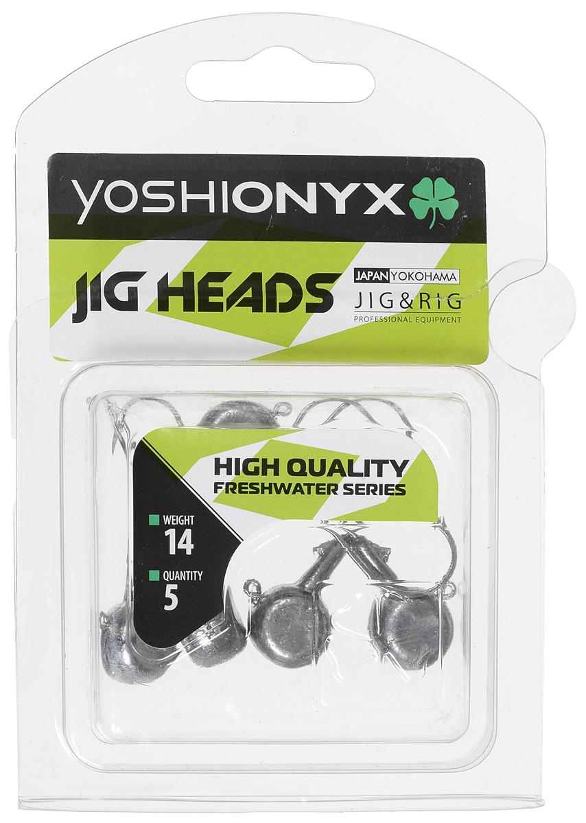 Джиг-головка Yoshi Onyx JIG Bros. Аспирин, крючок Gamakatsu, 14 г, 5 шт