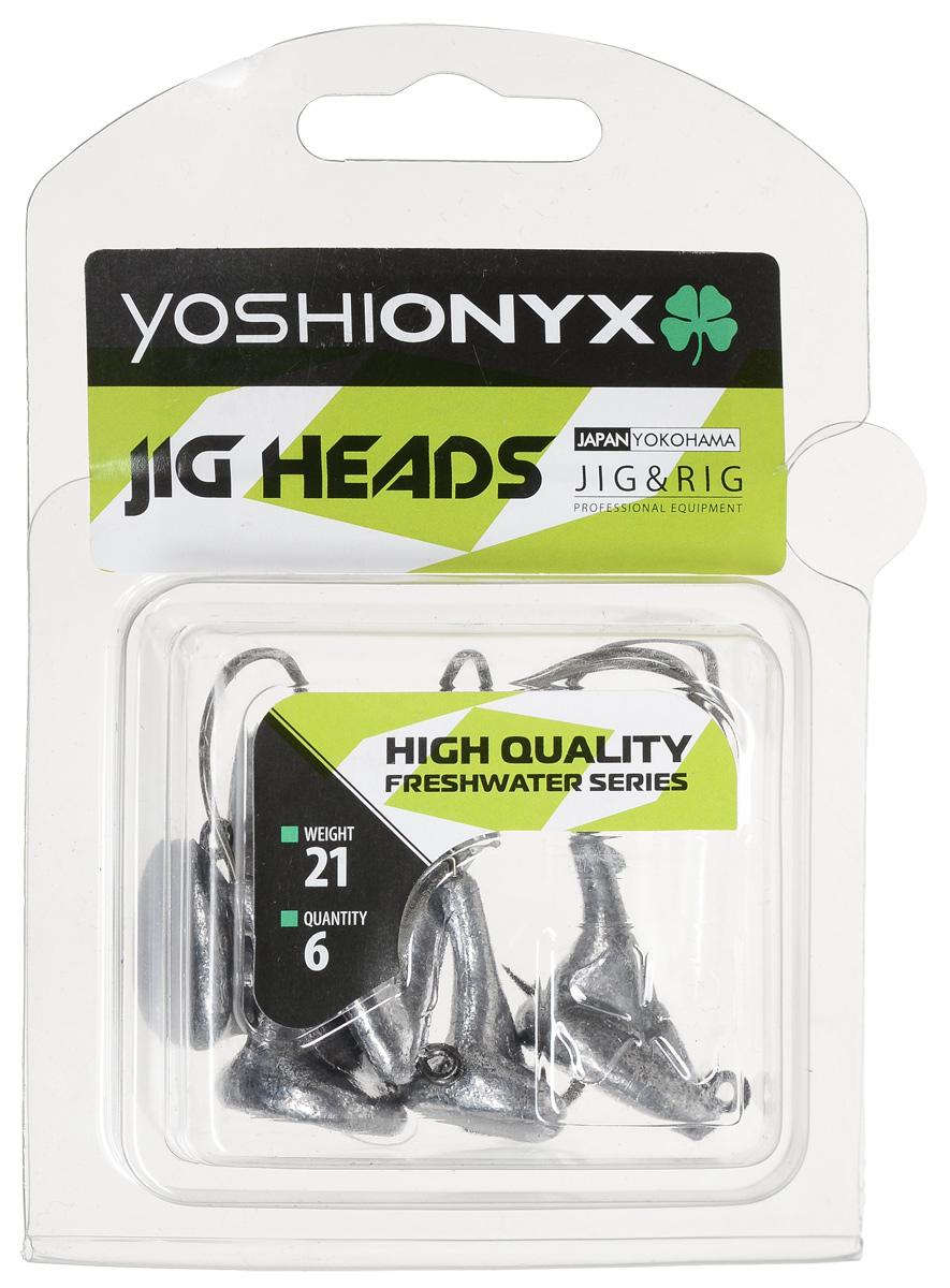 Джиг-головка Yoshi Onyx JIG Bros. Стоящий на дне, крючок Eagle Claw, 21 г, 6 шт