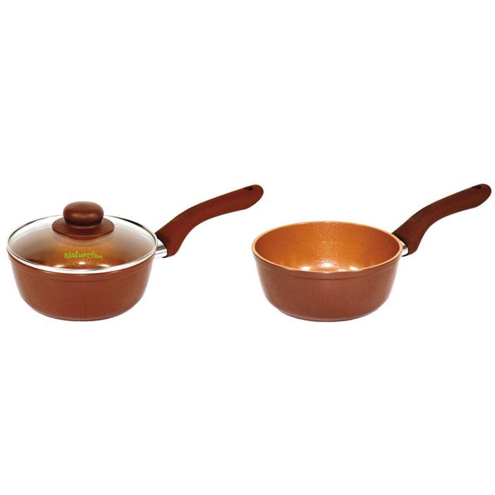 Ковш NaturePan Ceramic с крышкой, с керамическим покрытием, 1 лCrS16Ковш NaturePan Ceramic выполнен из высококачественного алюминия с керамическим покрытием.Ковш снабжен крышкой из алюминия и стекла с не нагревающейся ручкой. Крышка позволяет следить за процессом приготовления блюд без потери тепла, сохраняет аромат и вкус блюд.